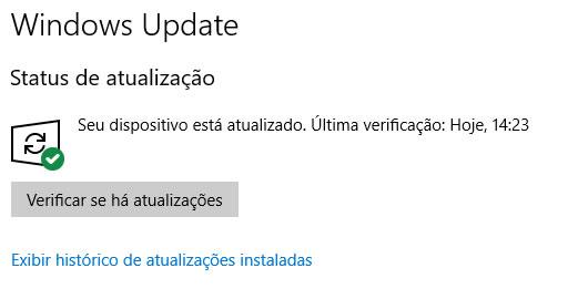 como corrigir falha de atualização do Windows 10