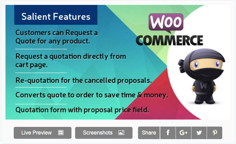 WooCommerce plugin orçamento Easy WooCommerce Request a Quote