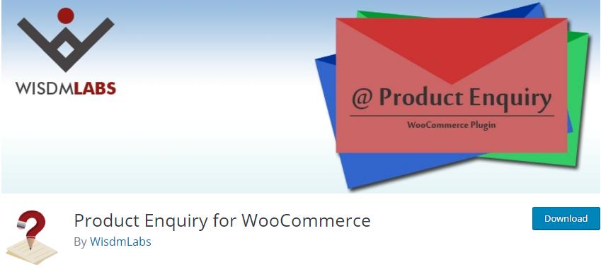 WooCommerce plugin orçamento Product Enquiry for WooCommerce plugin
