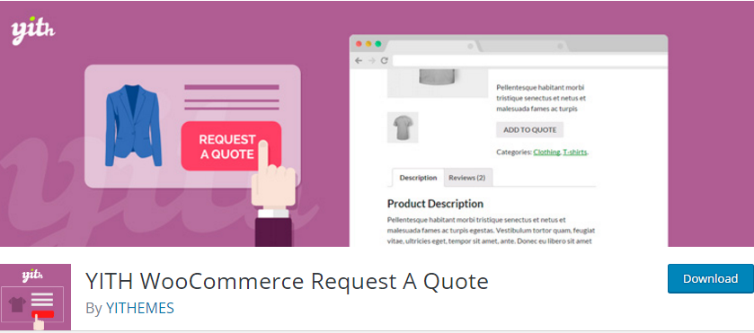 WooCommerce plugin orçamento YITH Woocommerce Request A Quote