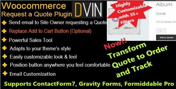 WooCommerce plugin orçamento WooCommerce Request a Quote plugin