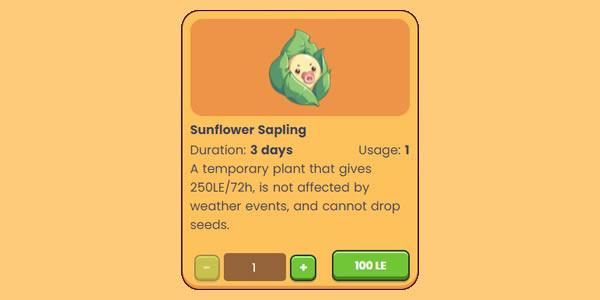 plantvsundead planta sapling 3 dias 100 LE