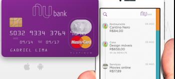 Cartão de crédito e aplicativo Nubank